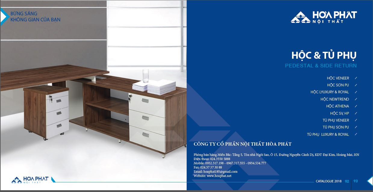 Catalogue Hộc - Tủ phụ