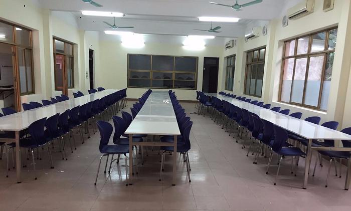 Review 5 mẫu bàn ăn inox nhà ăn công nhân Hòa Phát